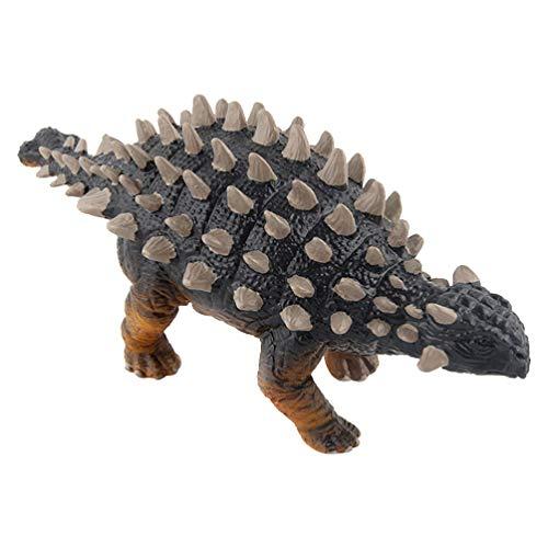 NUOBESTY Figura de dinosaurio modelo Ankylosaurio Dinosaurio Figura de acción Jurásico World Park Dino juguete ciencia juguete pedagógico para niños fiesta azul
