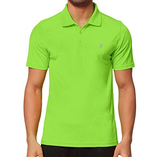 CFLEX Herren Sport Shirt Fitness Polo-Shirt Sportswear Collection - Electric Green L