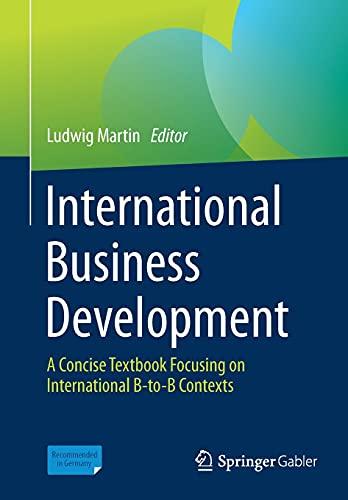 International Business Development: A Concise Textbook Focusing on International B-to-B Contexts