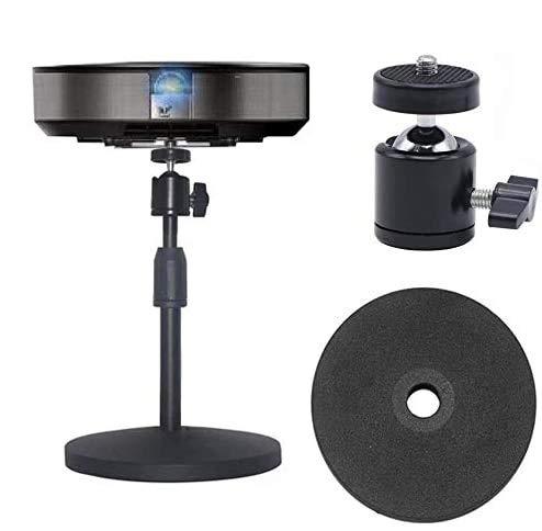 Soporte móvil para proyector de escritorio mini proyector giratorio de 360 ° con tornillo de montaje de 1/4 pulgadas, longitud...