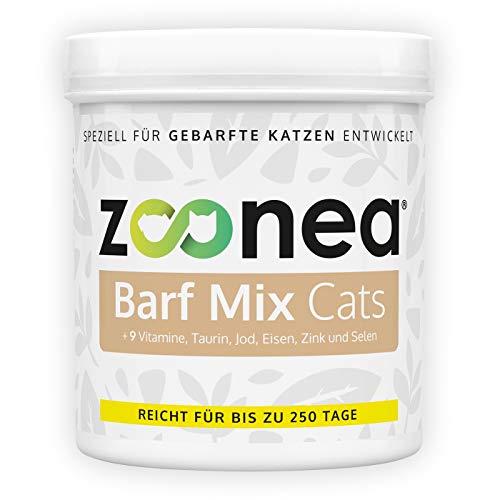 Zoonea Barf Mix Cats (250 g) - Barf-Zusatz für gebarfte Katzen, von Tierärzten und Ernährungsphysiologen entwickelt - beinhaltet alle wichtigen Mineralstoffe, Vitamine und Spurenelemente