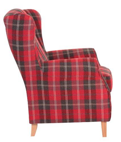 Max Winzer Sessel Lione | Mit Flachgewebe in Rot