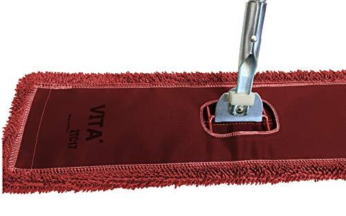 72' Microfiber Dust Mop Kit: (1) Red Microfiber Dust Mop, (1) Dust Mop Frame & (1) Ergonomic Dust Mop Handle