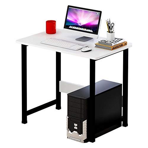 PN-Braes Escritorio de madera para ordenador portátil, escritorio moderno, mesa de estudio, muebles de oficina, estación de trabajo en casa y estudio