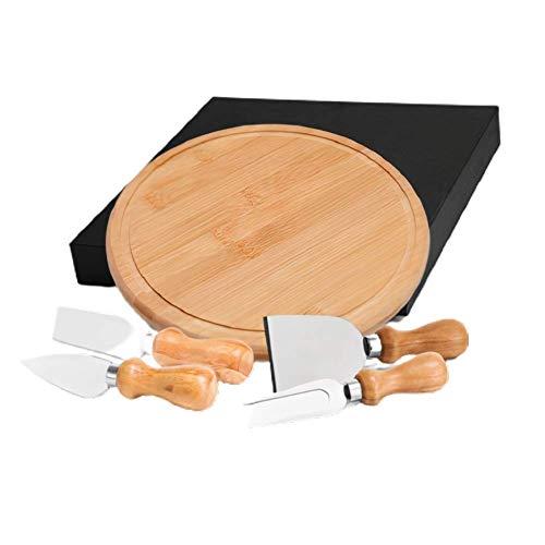 Conj. Para Queijo Em Bambu/Inox Cordoba - 5 Pcs Welf
