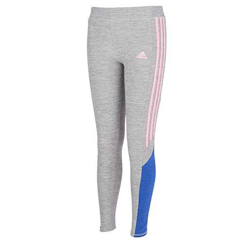 adidas Girls' Active Sports Athletic Legging Tight, Core Fav Heather Grey, Large