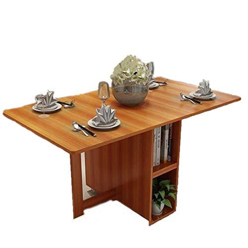 N/Z Attrezzatura Vivente Tavolo da Pranzo Tavolo da Picnic Sedia Un Tavolo da Pranzo da Ufficio Pieghevole in Legno retrò Langer (Colore: Marrone Dimensioni: 1,4 m)