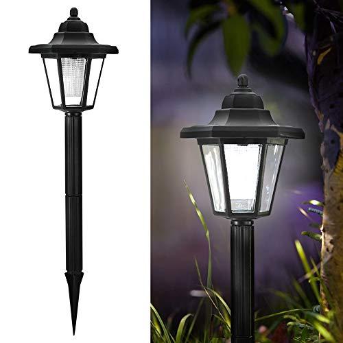 Sren Lámpara Solar para Exteriores Que Ahorra energía, lámpara LED Solar de luz Blanca, lámpara de Suelo, iluminación para Exteriores, Pasarela de plástico Vintage, balcón para jardín