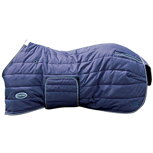 Country Pride Squall 1200D Midweight Bellyband Stable Blanket, Navy, Size 82