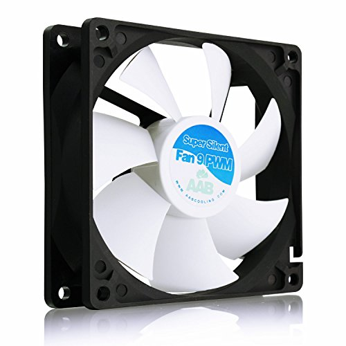 AABCOOLING Super Silent Fan 9 PWM - Una Silenziosa e Molto Efficiente 92mm Ventola per Case PC, CPU Processore, Case Fan, 12 Volt Ventola Aspirazione, 9cm, 4 Pin PWM 9,5~17,9 Db(A)