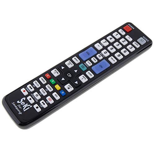 SeKi Fernbedienung passend für Samsung - Funktioniert mit Allen Samsung Geräten (TV, Fernseher, 3D, 4K, 6179, und LED TV), mit zusätzlicher Lernfunktion