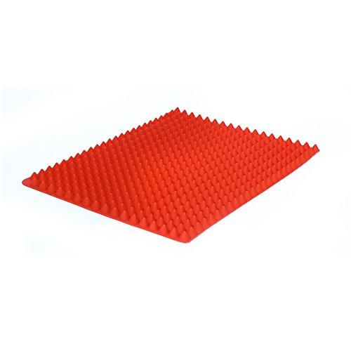Cuisy KC2173 Tapis de Cuisson Saine Silicone Rouge/Noir/Vert 35 x 1 x 25 cm *Coloris Aléatoire*