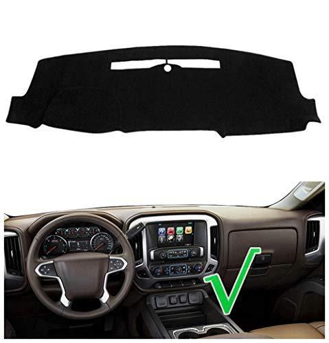 Salusy Black Dashboard Dash Protector Dash Mat Sun Cover Pad Compatible with 2014-2018 Chevy Chevrolet Silverado 1500 / GMC Sierra 1500, 2015-2018 2500 HD/3500 HD