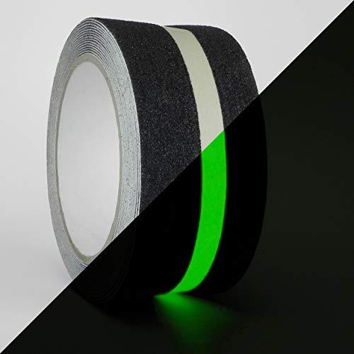 WOD NST-20GS Anti-Rutsch-Griffband, leuchtet im Dunkeln für Sicherheit Ilumination Track – 5,1 cm Rutschfestes Klebeband für Treppen oder andere rutschige Oberflächen im Innen- und Außenbereich