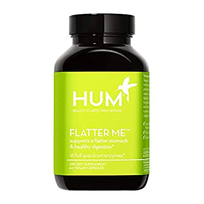 HUM Flatter Me Digestive Enzymes - Amylase Lipase & Bromelain Enzymes Healthy Digestion Supplement - Supports Nutrition Absorption & A Flatter Stomach, Helps Decrease Bloating (60 Vegan Capsules)