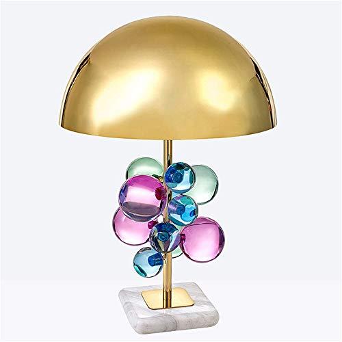 TYXL Lámparas de Mesa Post Modern Creative Color Crystal Ball Desk Desk Lamp Lámpara Modelo Luxury Living Room Lámpara de Mesa (Color : Multi-Colored)