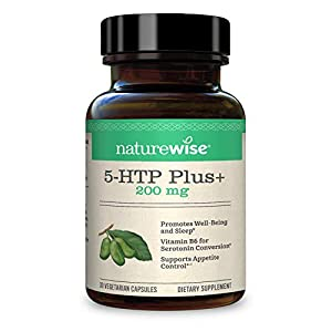 NatureWise 5-HTP 200mg Advanced Time Release, Supports Appetite Suppression, Mood, Stress, and Sleep, 30 count
