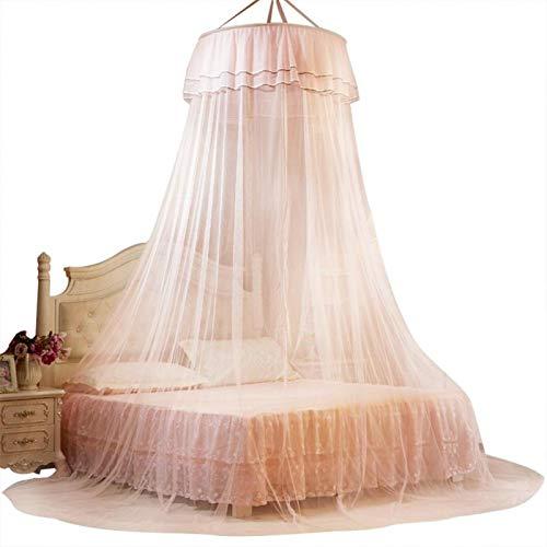 Emoshayoga Poliéster Decorativo Transpirable Cama mosquitera Cortina Plegable Encaje hogar Dormitorio Babyroom(Jade)