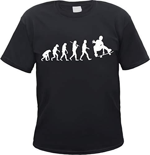 Evolution Skater Herren T-Shirt Skateboard Schwarz L
