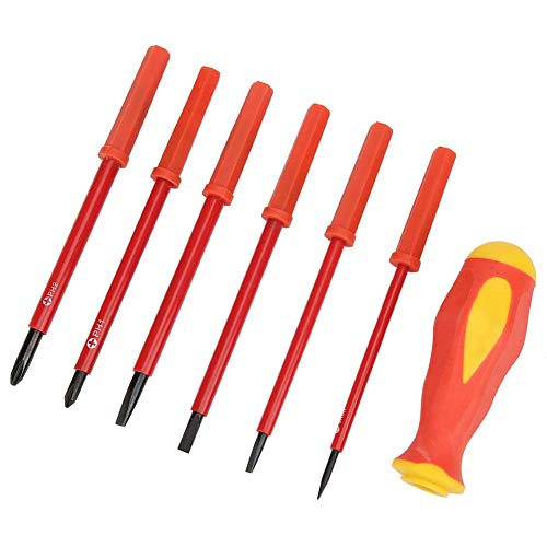 Juego de destornilladores aislados, 6 piezas 1000v electricista multifunción Set de destornilladores de precisión destornillador para destornillador,