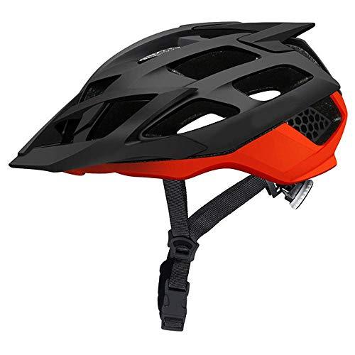 XYBB Casco Bici Casco da Bicicletta MTB con Occhiali da Sole Casco da Mountain Bike Ultraleggero per Bici da Strada Caschi da Ciclismo da Corsa in Stampo M (52-57) Nero Rosso
