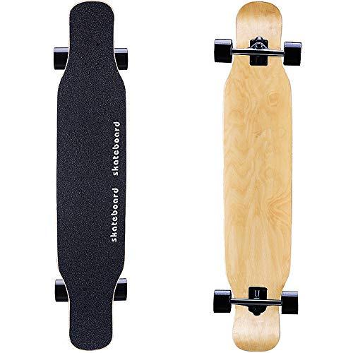 MQLOON Longboard 118cm Pro Komplette Skateboard Ahornholz Longboards FüR AnfäNger Teenager Erwachsene MäDchen Jungen, High Speed ABEC Kugellagern