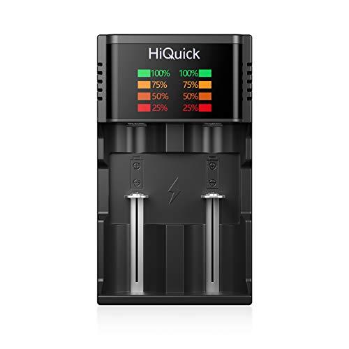 HiQuick 18650 Akku Ladegerät Smart Universal LCD Battery Charger for 18650 18500 18350 17670 17500 16340 14500 10440 20700 21700 22650 26650 3.7v Li-Ion NI-MH NI-Cd C D AAA AA Akku Batterieladegerät