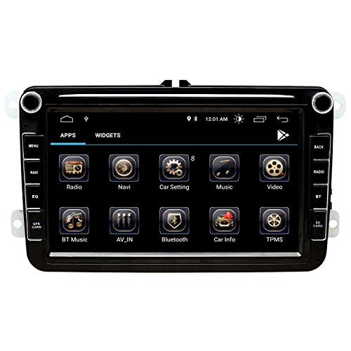 Double Din Android Autoradio - 7 Zoll Touchscreen im Dash Autoradio Passend - 1080P Video Multimedia Player mit Bluetooth 4.0 WiFi GPS Navigationssystem (Android 9)