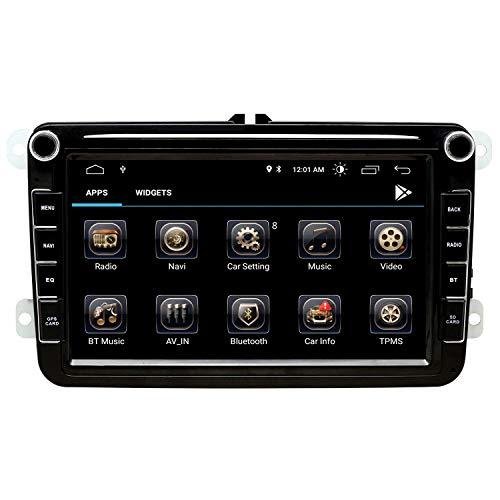 Double Din Android Autoradio - 8 Zoll Touchscreen im Dash Autoradio Passend für VW Volkswagen - 1080P Video Multimedia Player mit Bluetooth 4.0 WiFi GPS Navigationssystem (Android 9)