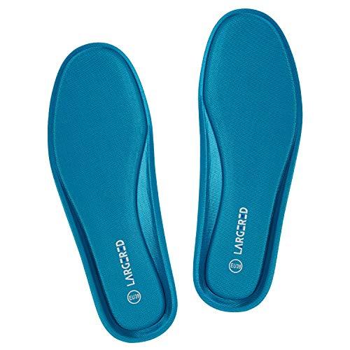 LARGERED Plantillas Memory Foam para Zapatos de Mujer y Hombre,Plantillas Aautoadhesivas Cómodas y Flexibles,para Trabajo, Deportes,Caminar,Senderismo y Anti-fatiga,Azul oscura 17 Mujer-EU39
