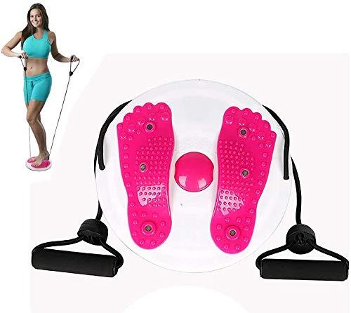 U-A Twist Waist Torsion Disc Board | Body Massage Balance Board for Fitness | Macchina per Fianchi a Vita Sottile | Attrezzatura Multifunzionale per Esercizi | Tavola Rotante con magneti con funi