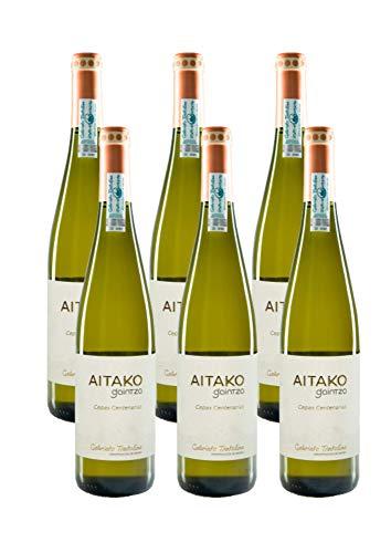 Txakoli AITAKO Gaintza, vendimia 2018, caja de 6 botellas, denominación de origen Getariako Txakolina - Txakolí de Getaria, vino blanco