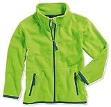 Playshoes Mädchen Fleece farbig abgesetzt Jacke, Grün (Grün 29), 140