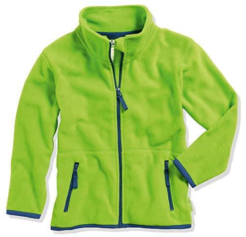 Playshoes Fleece-Jacke Farbig abgesetzt Chaqueta, Verde (Grün 29), 95 (Talla del Fabricante: 80) para Niñas