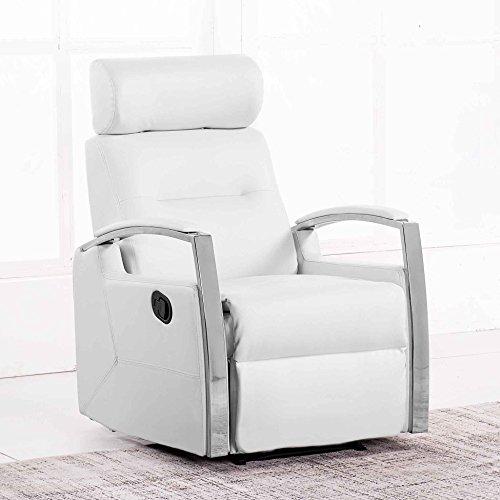 Adec - Sillón relax reclinable modelo DUCAL color Blanco