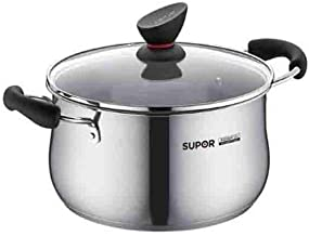 XSWY Soup Pot, Stainless Steel Soup Pot, 304 Stainless Steel Double Bottom Thick Soup Pot Cooker Pot, Induction Cooker Pot...