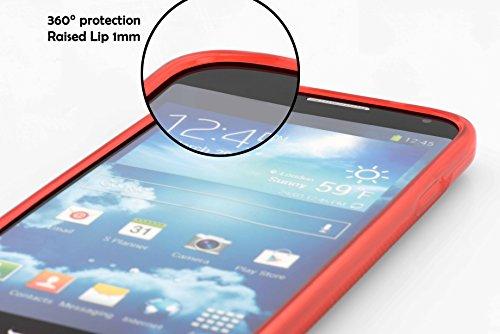 Cadorabo Hülle für Huawei Ascend W1 - Hülle in Inferno ROT – Handyhülle aus flexiblem TPU Silikon im X-Line Design - Silikonhülle Schutzhülle Soft Back Cover Case Bumper - 6
