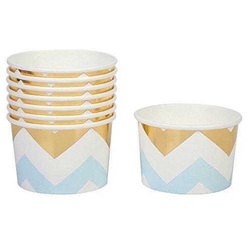 Neviti Pattern Works - Vaso de Helado, diseño de Zigzag, Color Azul
