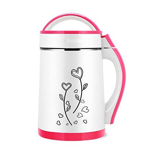 Mdsfe Sojabohnenmilchmaschine mit großer Kapazität Gemüsesaft-Extraktor Frühstück Reispastenmaschine Heizen und Filtern - Pink, 220V