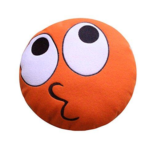 Sorrento lindo y mini almohada de terciopelo emoticono súper suave, diseño único de cojín de emoticono, muñeca de peluche de peluche (20 cm, besos)