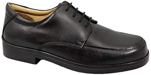 Roamer - Zapatos de cordones para hombre, color negro, talla 48