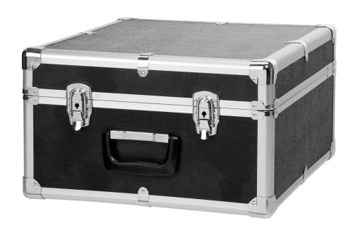 Classic Cantabile Akkordeonkoffer für 48 Bass Akkordeons (Hartkoffer, Gigbag Case, schwarz gepolstert, Tragegriff, Metallbeschläge, 4 Standfüße, Innenmaße ca. 43 cm x 41 cm x 23 cm)