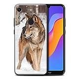 Hülle Für Huawei Honor 8A/Play Wilde Tiere Wolf Design Transparent Ultra Dünn Klar Hart Schutz Handyhülle Hülle