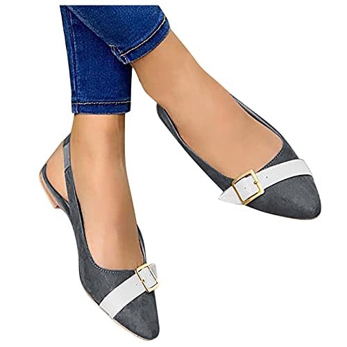 Hbeylia Women s Ballet Flats Fashion Casual Pointed Toe Slingback Slip On Walking Flats Shoes Wide Width Dress Oxford Shoes for Women Ladies