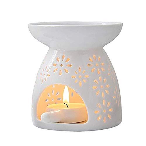 Kerzenständer, Hohl Kerzenhalter Keramik Kerzenhalter Vintage Kerzenständer Retro Kerzenhalter Mit Wachshalter Ätherisches Öl Tee Wachs Europäische Kerzenhalter für Weihnachts Hochzeit Dekoration