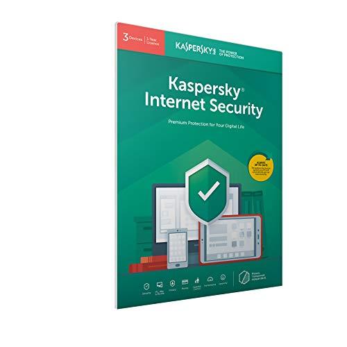 Kaspersky Internet Security 2018 - 3 Postes / 1 An (FFP) Code d'activation dans un emballage d'ouverture facile, Certifié