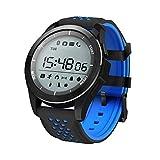 Febelle Reloj Pulsera Inteligente Luz Ultravioleta Luminosa Ip68 Impermeable Elevación Corriendo Smartwatch Podómetro Compatible iOS Android Negro y Azul