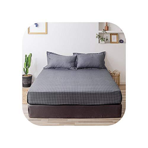 Blue Stor Baumwollbett Set |2020 1 Stück Baumwolldruck Bettmatratze Set mit Vier Ecken und elastischen Bandblättern-dushihuangyinglan-90X200X25cm
