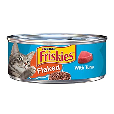 Purina Friskies Wet Cat Food, Flaked With Tuna - (24) 5.5 oz. Cans