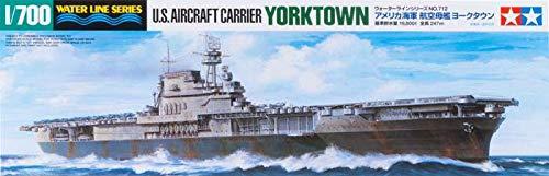 TAMIYA - 1:700 WL Flugzeugträger USS Yorktown CV-5 - Plastikbausatz - Modellbau - originalgetreue Nachbildung - detaillierter Bausatz - Basteln - Hobby - Zusammenbauen